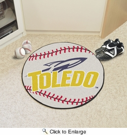 "Fan Mats 3340  UT - University of Toledo Rockets 27"" Diameter Baseball Shaped Area Rug"