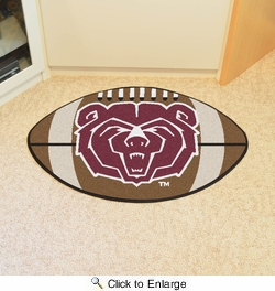 "Fan Mats 3402  MSU - Missouri State University Bears 20.5"" x 32.5"" Football Shaped Area Rug"