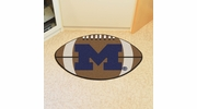 "Fan Mats 3403  UM - University of Michigan Wolverines 20.5"" x 32.5"" Football Shaped Area Rug"