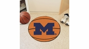 "Fan Mats 3404  UM - University of Michigan Wolverines 27"" Diameter Basketball Shaped Area Rug"