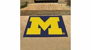 "Fan Mats 3405  UM - University of Michigan Wolverines 33.75"" x 42.5"" All-Star Series Area Rug / Mat"