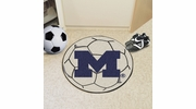 "Fan Mats 3408  UM - University of Michigan Wolverines 27"" Diameter Soccer Ball Shaped Area Rug"