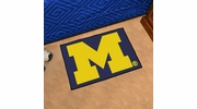 "Fan Mats 3409  UM - University of Michigan Wolverines 19"" x 30"" Starter Series Area Rug / Mat"