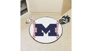 "Fan Mats 3411  UM - University of Michigan Wolverines 27"" Diameter Baseball Shaped Area Rug"