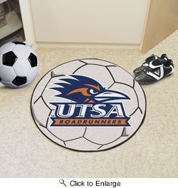 "Fan Mats 3504  University of Texas - San Antonio Roadrunners 27"" diameter Soccer Ball Mat"