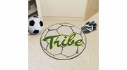 """Fan Mats 3522  William & Mary Tribe 27"""" Diameter Soccer Ball Shaped Area Rug"""
