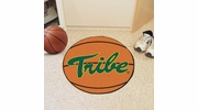 """Fan Mats 3526  William & Mary Tribe 27"""" Diameter Basketball Shaped Area Rug"""