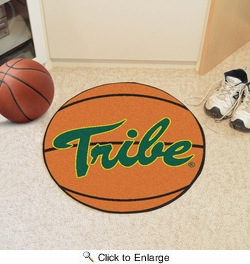 "Fan Mats 3526  William & Mary Tribe 27"" Diameter Basketball Shaped Area Rug"