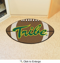 "Fan Mats 3528  William & Mary Tribe 20.5"" x 32.5"" Football Shaped Area Rug"