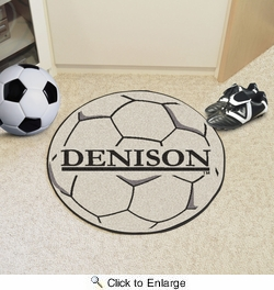 "Fan Mats 3553  DU - Denison University Big Red 27"" Diameter Soccer Ball Shaped Area Rug"