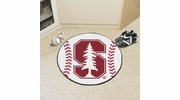 "Fan Mats 3610  Stanford University Cardinal 27"" Diameter Baseball Shaped Area Rug"