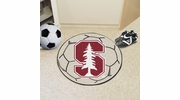"Fan Mats 3612  Stanford University Cardinal 27"" Diameter Soccer Ball Shaped Area Rug"
