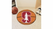 "Fan Mats 3615  Stanford University Cardinal 27"" Diameter Basketball Shaped Area Rug"