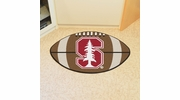 "Fan Mats 3617  Stanford University Cardinal 20.5"" x 32.5"" Football Shaped Area Rug"