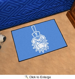 "Fan Mats 3620  The Citadel Bulldogs 19"" x 30"" Starter Series Area Rug / Mat"