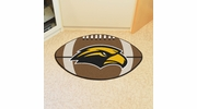 "Fan Mats 3727  USM - University of Southern Mississippi Golden Eagles 20.5"" x 32.5"" Football Shaped Area Rug"