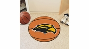 "Fan Mats 3729  USM - University of Southern Mississippi Golden Eagles 27"" Diameter Basketball Shaped Area Rug"