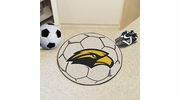 "Fan Mats 3732  USM - University of Southern Mississippi Golden Eagles 27"" Diameter Soccer Ball Shaped Area Rug"