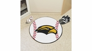 "Fan Mats 3733  USM - University of Southern Mississippi Golden Eagles 27"" Diameter Baseball Shaped Area Rug"
