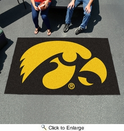 Fan Mats 3897  UI - University of Iowa Hawkeyes 5' x 8' Ulti-Mat Area Rug / Mat