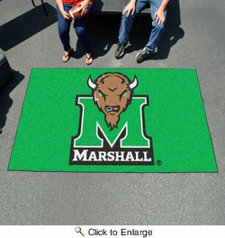 Fan Mats 3915  Marshall University Thundering Herd 5' x 8' Ulti-Mat Area Rug / Mat