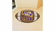 "Fan Mats 3943  LSU - Louisiana State University Tigers 20.5"" x 32.5"" Football Shaped Area Rug"
