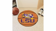 "Fan Mats 3945  LSU - Louisiana State University Tigers 27"" Diameter Basketball Shaped Area Rug"