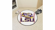 "Fan Mats 3949  LSU - Louisiana State University Tigers 27"" Diameter Baseball Shaped Area Rug"