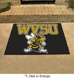 "Fan Mats 4061  West Virginia State University Yellow Jackets 33.75"" x 42.5"" All Star Mat"