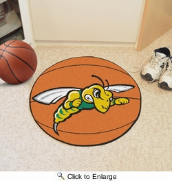 "Fan Mats 4084  BHSU - Black Hills State University Yellow Jackets 27"" Diameter Basketball Shaped Area Rug"