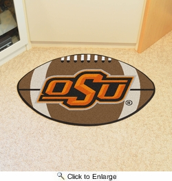 "Fan Mats 4140  OSU - Oklahoma State University Cowboys 20.5"" x 32.5"" Football Shaped Area Rug"