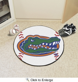 "Fan Mats 4152  UF - University of Florida Gators 27"" Diameter Baseball Shaped Area Rug"