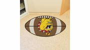 "Fan Mats 420  Ferris State University Bulldogs 20.5"" x 32.5"" Football Mat"