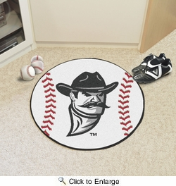 "Fan Mats 4222  NMSU - New Mexico State University Aggies 27"" Diameter Baseball Shaped Area Rug"