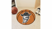 "Fan Mats 4228  NMSU - New Mexico State University Aggies 27"" Diameter Basketball Shaped Area Rug"