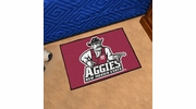 "Fan Mats 4229  NMSU - New Mexico State University Aggies 19"" x 30"" Starter Series Area Rug / Mat"
