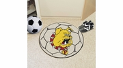 "Fan Mats 423  Ferris State University Bulldogs 27"" diameter Soccer Ball Mat"