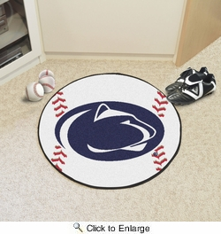 "Fan Mats 4239  PSU - Penn State Nittany Lions 27"" Diameter Baseball Shaped Area Rug"