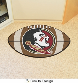 "Fan Mats 4319  FSU - Florida State University Seminoles 20.5"" x 32.5"" Football Shaped Area Rug"