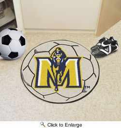 "Fan Mats 4348  MSU - Murray State University Racers 27"" Diameter Soccer Ball Shaped Area Rug"