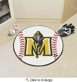 "Fan Mats 4349  MSU - Murray State University Racers 27"" Diameter Baseball Shaped Area Rug"