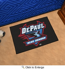 "Fan Mats 435  DePaul University Blue Demons 19"" x 30"" Starter Series Area Rug / Mat"