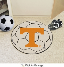 "Fan Mats 4383  UTK - University of Tennessee Volunteers 27"" Diameter Soccer Ball Shaped Area Rug"