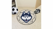 "Fan Mats 4402  UConn - University of Connecticut Huskies 27"" Diameter Soccer Ball Shaped Area Rug"