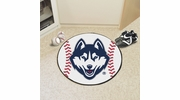 "Fan Mats 4403  UConn - University of Connecticut Huskies 27"" Diameter Baseball Shaped Area Rug"