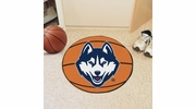 "Fan Mats 4404  UConn - University of Connecticut Huskies 27"" Diameter Basketball Shaped Area Rug"