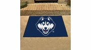 "Fan Mats 4405  UConn - University of Connecticut Huskies 33.75"" x 42.5"" All-Star Series Area Rug / Mat"