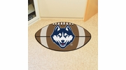 "Fan Mats 4410  UConn - University of Connecticut Huskies 20.5"" x 32.5"" Football Shaped Area Rug"