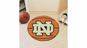 "Fan Mats 4417  ND - University of Notre Dame Fighting Irish 27"" Diameter Basketball Shaped Area Rug"