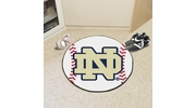 "Fan Mats 4418  ND - University of Notre Dame Fighting Irish 27"" Diameter Baseball Shaped Area Rug"